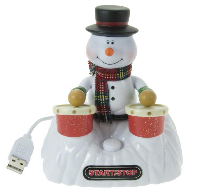 Trommelnder USB Schneemann