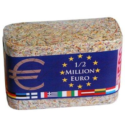 das etwas anderes Geld-Geschenk: eine halbe Million Euro im Barren
