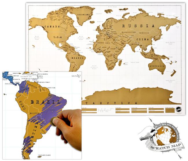 Rubbelkarte für Weltenbummler