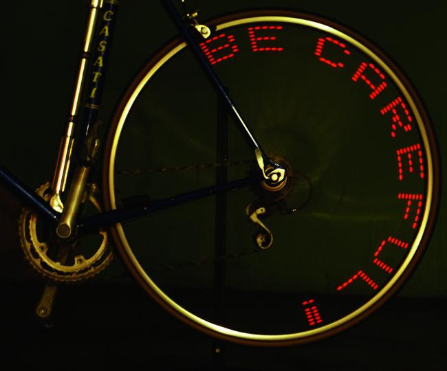 ein Fahrrad-Gadget: der Bike Messenger