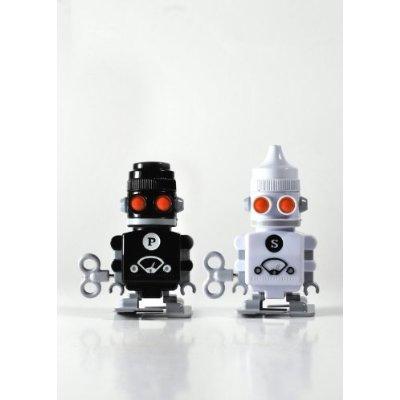 nostalgische Roboter für Salz und Pfeffer