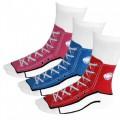ausgefallene Socken für Turnschuh-Fans