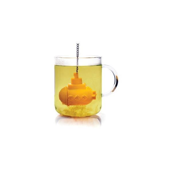 Gelbes Unterseeboot für Teetrinker