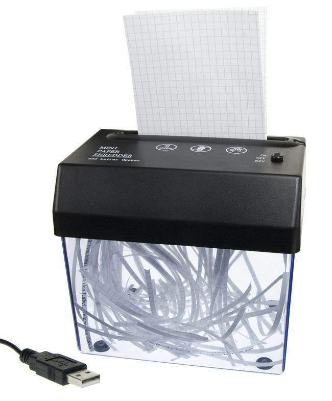 USB-Aktenvernichter: ein nützliches Schreibtisch-Gadget